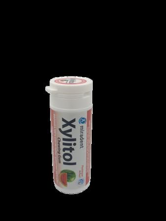 MIRADENT Xylitol Chewing Gum - guma do żucia z ksylitolem przeciw próchnicy, 30 szt, smak  arbuzowy