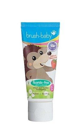BRUSH-BABY - pasta do zębów dla dzieci w wieku od 0-2 lat, smak truskawkowy, 50 ml