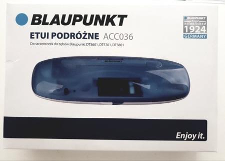 Blaupunkt ACC036 etui podróżne z funkcją ładowania USB oraz  z systemem dezynfekcji końcówek światłem UV do szczoteczek DTS601, DTS701, DTS801