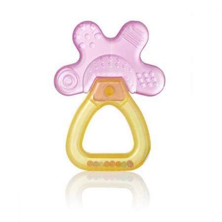 Brush-Baby Cool&Calm PINK gryzako-grzechotka dla dzieci od 4 miesiaca życia,