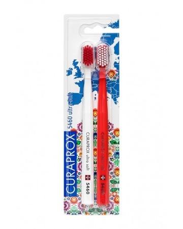 CURAPROX CS 5460  POLSKA Ultra Soft - ultra miękka szczoteczka do mycia zębów i masażu dziąseł, zestaw 2 sztuki