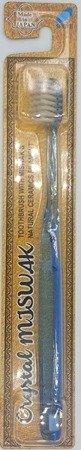 Crystal MISWAK - antybakteryjna szczoteczka do zębów z ceramiką i ekstraktem z drzewa Miswak, niebieska