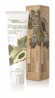 ECODENTA Cosmos Organic Papaya - wybielająca pasta do mycia zębów z ekstraktem papai