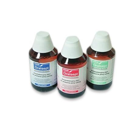Ecolab ORALSEPT miętowy antybakteryjny płyn do płukania jamy ustnej, 300 ml