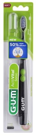 GUM  SUNSTAR ActiVital szczoteczka soniczna na baterie, czarna