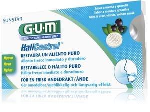 GUM SUNSTAR Halicontrol - do ssania przeciw nieświeżemu oddechowi z ust (halita), 10 szt