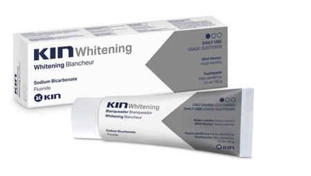KIN Whitening wybielająca pasta do mycia zębów o niskim współczynniku ścieralności