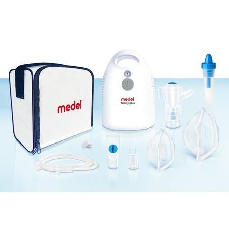 MEDEL Family Plus + Jet Rhino Inhalator pneumatyczno-tłokowy z końcowką do oczyszczania nosa i zatok