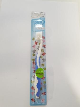 ORTO DENT Mini Silver (N) - antybakteryjna szczoteczka do mycia zębów z drobinkami srebra dla dzieci w wieku 0-5 lat, niebieska