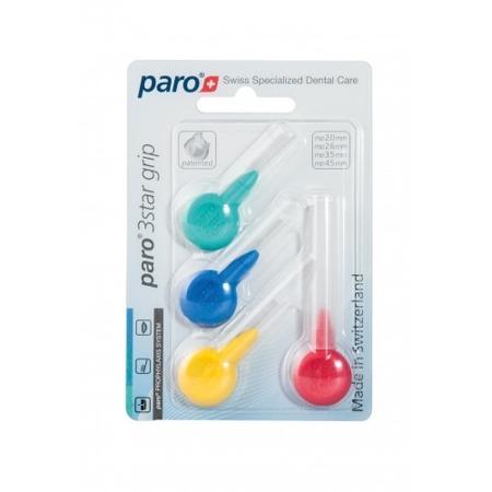PARO ISOLA 3STAR GRIP set  - końcówki wymienne międzyzębowe do szczoteczek 4 szt