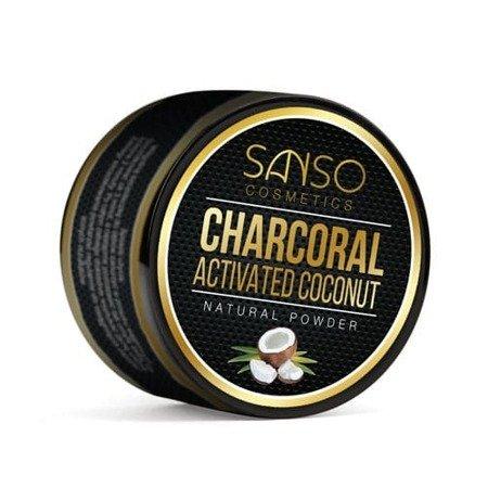 Sanso COCONUT CHARCOAL  Natural White wybielający proszek z węglem do mycia zębów,30 g