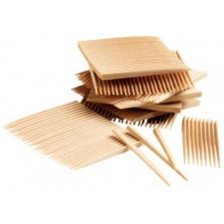 TePe Dental Sticks XS - Extra Slim - drewniane wykałaczki z fluorem do bardzo wąskich przestrzeni, 160 szt