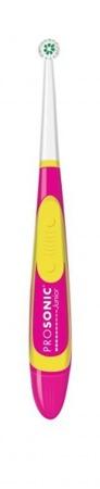 VISIOMED Prosonic Junior - szczoteczka nano-soniczna na baterie dla dzieci w wieku 3+, różowa