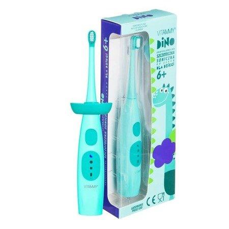 VITAMMY LITTLE DINO TURKUS szczoteczka soniczna do mycia zębów dzieci powyżej 6 lat, 84 000 ruchów