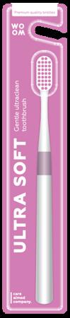 WOOM ULTRA SOFT Ultraclean - szczoteczka do mycia zębów głeboko czyszcząca PINK
