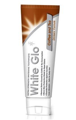 White Glo Coffe&Tea Drinkers Formuła - pasta wybielająca usuwająca przebarwienia szkliwa , GRATIS szczoteczka do mycia zębów,100 ml